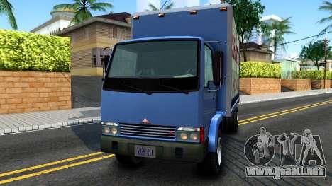 GTA IV Maibatsu Mule with GTA SA Ads para GTA San Andreas vista posterior izquierda