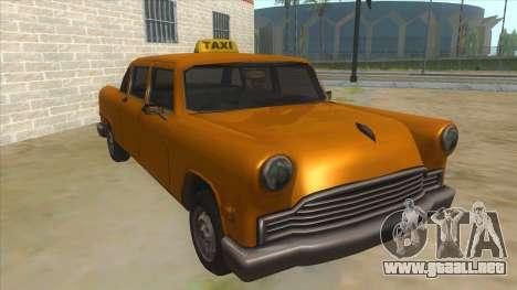 VC Cabbie Xbox para GTA San Andreas vista hacia atrás