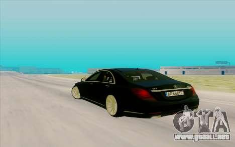 Mercedes Benz S63 para GTA San Andreas vista posterior izquierda