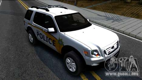 Ford Explorer Metro Police 2009 para la visión correcta GTA San Andreas