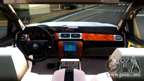 2007 Chevy Avalanche - Pilot Car para visión interna GTA San Andreas
