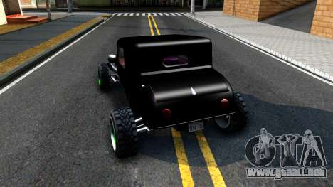 Green Flame Hotknife Race Car para GTA San Andreas vista posterior izquierda