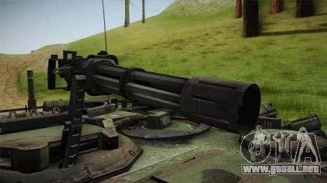 Abrams Tank Woolant Camo para GTA San Andreas vista hacia atrás