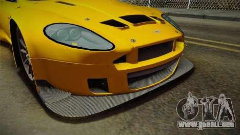 Aston Martin Racing DBRS9 GT3 2006 v1.0.6 Dirt para el motor de GTA San Andreas
