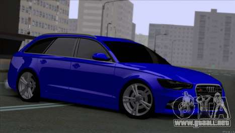 AUDI RS6 2014 para GTA San Andreas left