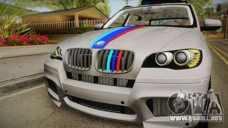 BMW X5M 2012 Special para la visión correcta GTA San Andreas