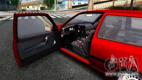 Volkswagen Golf Mk3 1997 para GTA San Andreas vista hacia atrás