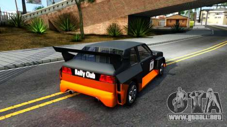 Rally Club para la visión correcta GTA San Andreas