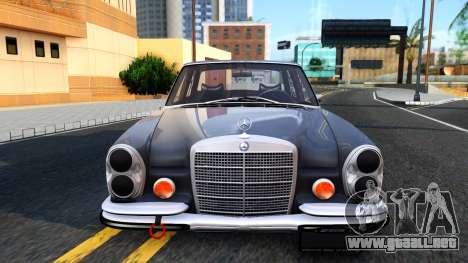 Mercedes-Benz 300SEL 6.3 para GTA San Andreas vista hacia atrás
