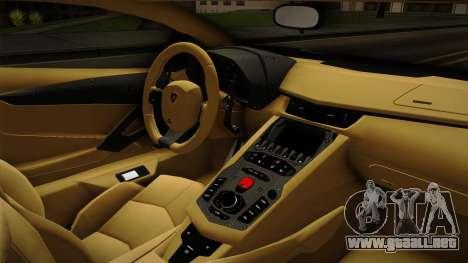 Lamborghini Aventador Itasha Rias Gremory para visión interna GTA San Andreas