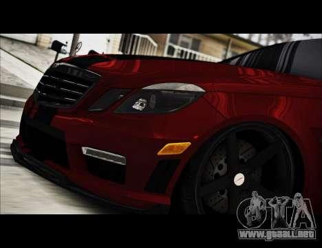 Mercedes-Benz E63 (W212) AMG 2010 para visión interna GTA San Andreas