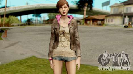 Resident Evil Revelations 2 - Moira Burton para GTA San Andreas segunda pantalla