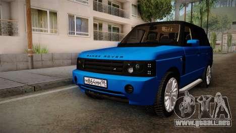 Range Rover 2008 para la visión correcta GTA San Andreas