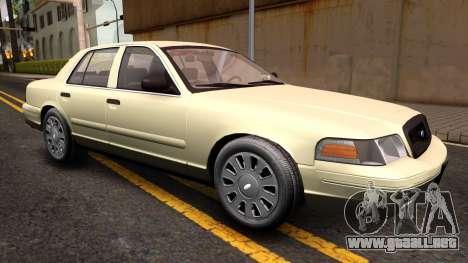 Ford Crown Victoria Unmarked 2009 para la visión correcta GTA San Andreas