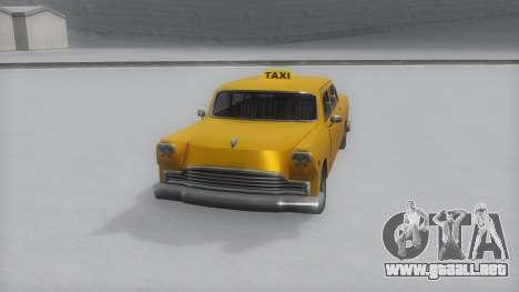Cabbie Winter IVF para GTA San Andreas