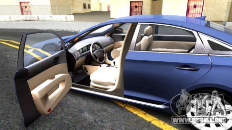 Hyundai Sonata 2016 para visión interna GTA San Andreas