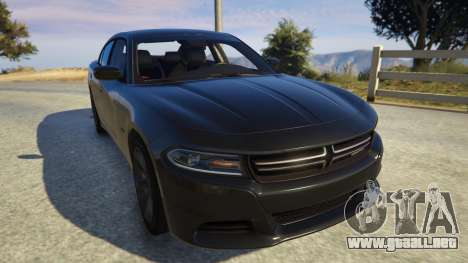 GTA 5 Dodge Charger 2016 vista trasera