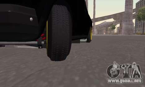 VAZ 2107 Black Jack para GTA San Andreas vista hacia atrás
