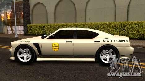 Bravado Buffalo Slicktop 2012 Iowa State Patrol para GTA San Andreas left