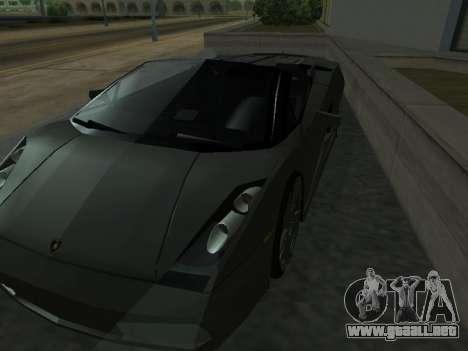 Lamborghini Galardo Spider para vista inferior GTA San Andreas