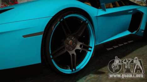 Lamborghini Aventador Itasha Rias Gremory para GTA San Andreas vista hacia atrás