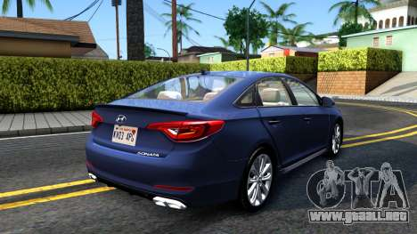 Hyundai Sonata 2016 para GTA San Andreas vista posterior izquierda