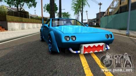 New Buffalo Custom para GTA San Andreas vista hacia atrás