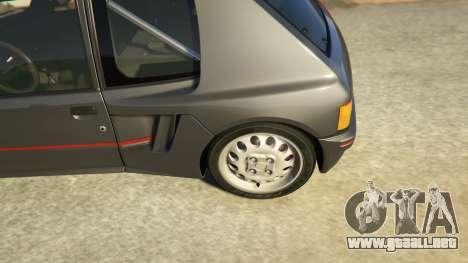 GTA 5 Peugeot 205 Rally vista lateral trasera derecha