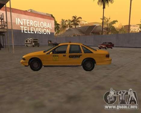 Chevrolet Caprice Taxi Kaufman para GTA San Andreas left