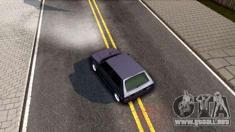 Yugo Koral 45 Sport Tuning para GTA San Andreas vista hacia atrás
