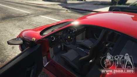 GTA 5 Ferrari 430 Scuderia vista trasera