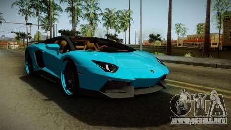 Lamborghini Aventador Itasha Rias Gremory para GTA San Andreas vista posterior izquierda