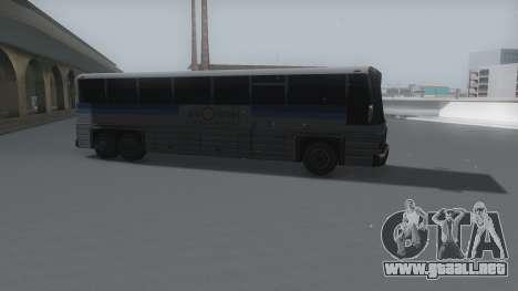 Coach Winter IVF para GTA San Andreas vista posterior izquierda
