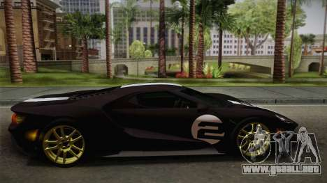 Ford GT 2017 Heritage Edition para la vista superior GTA San Andreas