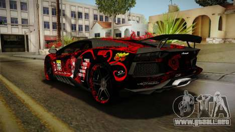 Lamborghini Aventador Itasha Rias Gremory para las ruedas de GTA San Andreas