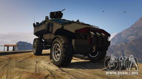 GTA 5 Punisher Black Armed Version vista trasera