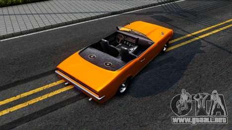 GTA V Declasse Vigero Retro Rim para GTA San Andreas vista hacia atrás
