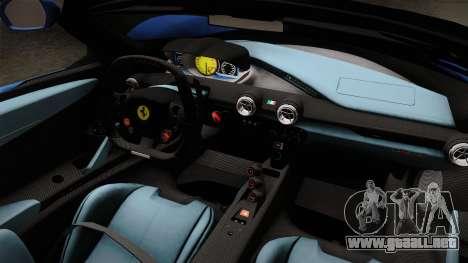 Ferrari LaFerrari Aperta 2017 para visión interna GTA San Andreas