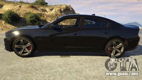 GTA 5 Dodge Charger 2016 vista lateral izquierda