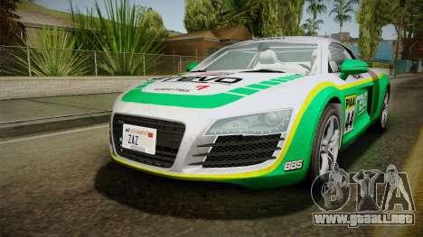 Audi R8 Coupe 4.2 FSI quattro EU-Spec 2008 YCH para el motor de GTA San Andreas
