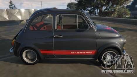 GTA 5 Fiat Abarth 595ss Street ver vista lateral izquierda
