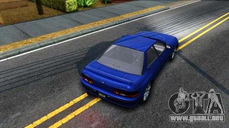 GTA V Zirconium Stratum Sedan para GTA San Andreas vista hacia atrás