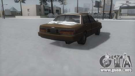Primo Winter IVF para GTA San Andreas vista posterior izquierda