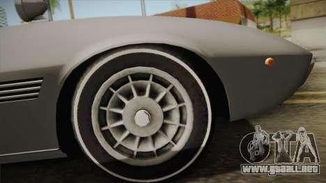 Maserati Ghibli v0.1 (Beta) para la visión correcta GTA San Andreas