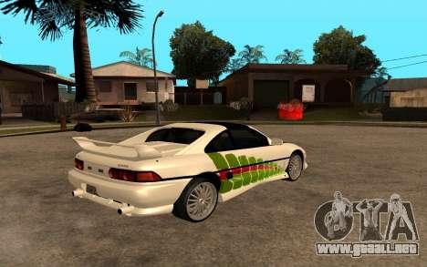 Toyota MR2 GT para visión interna GTA San Andreas