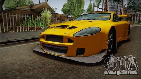 Aston Martin Racing DBRS9 GT3 2006 v1.0.6 Dirt para la visión correcta GTA San Andreas