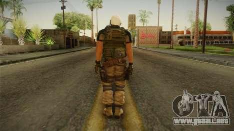 Resident Evil 6 - Chris Asia Bsaa para GTA San Andreas tercera pantalla