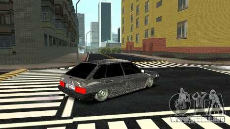 2109 versión de Invierno para GTA San Andreas vista posterior izquierda