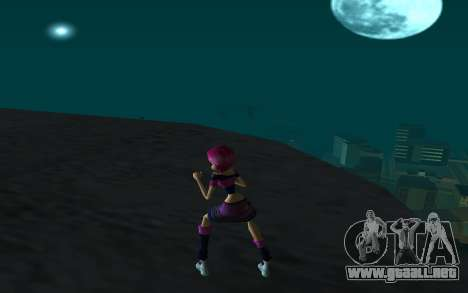Tecna Rock Outfit from Winx Club Rockstars para GTA San Andreas tercera pantalla