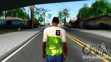 Design Camouflage T-Shirt para GTA San Andreas tercera pantalla